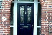 A Composite Door with Side Lites
