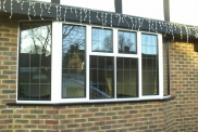 Aluminium Bay Windows with Square Lead